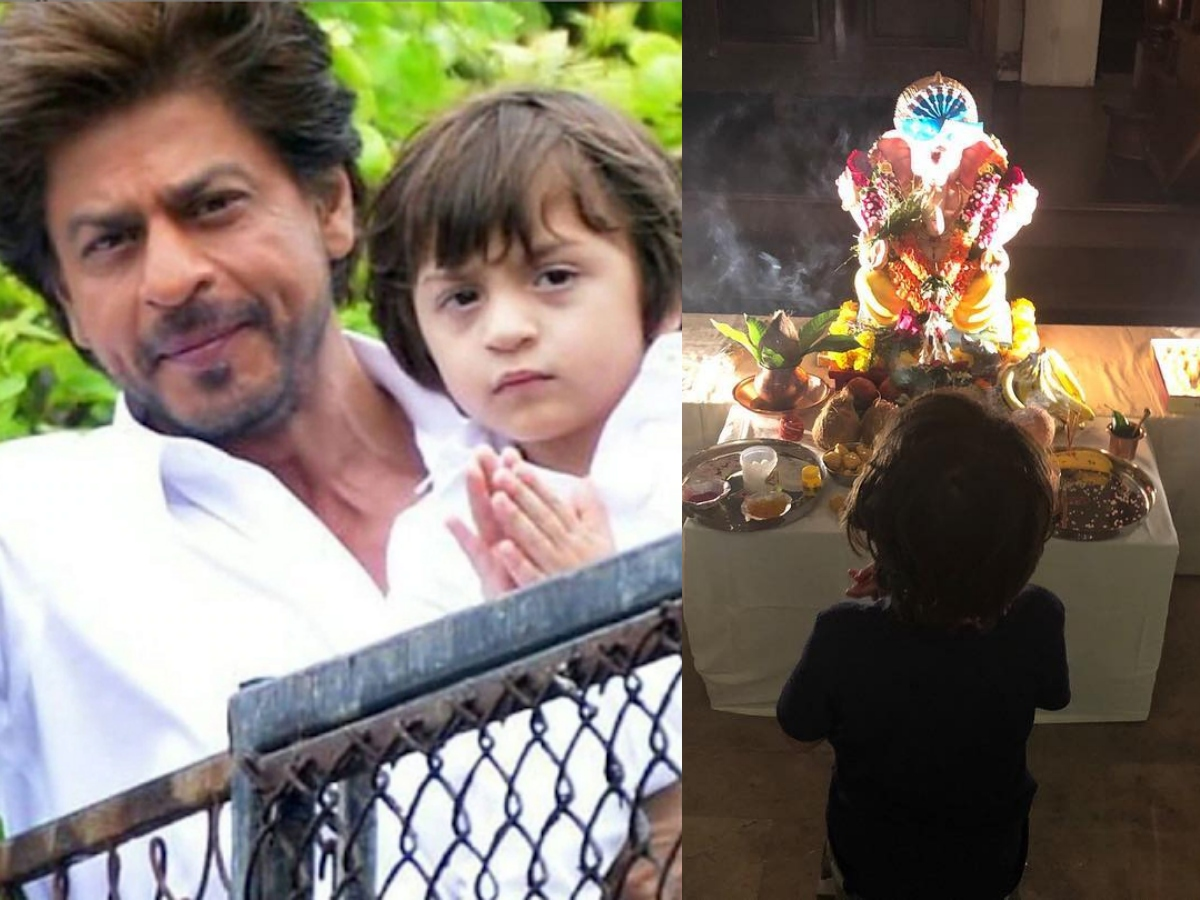SRK once got brutally trolled for making AbRam pray to Lord Ganesh
