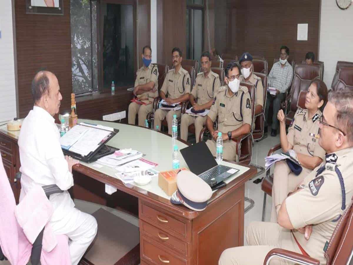 Home Minister Mahmood Ali reviews old city law and order situation
