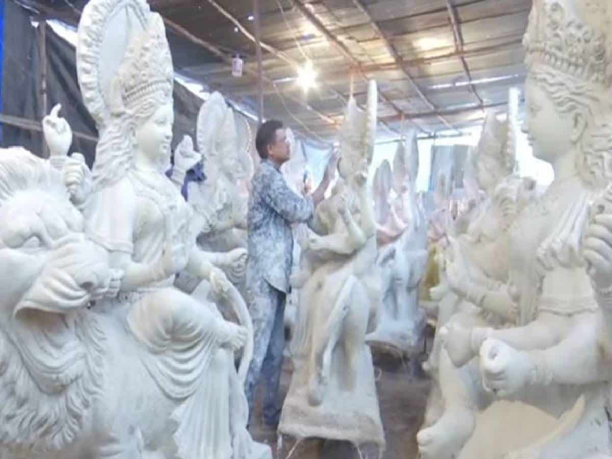 Hyderabad: Ahead of Durga Puja, artisans say sale of idols getting lukewarm response