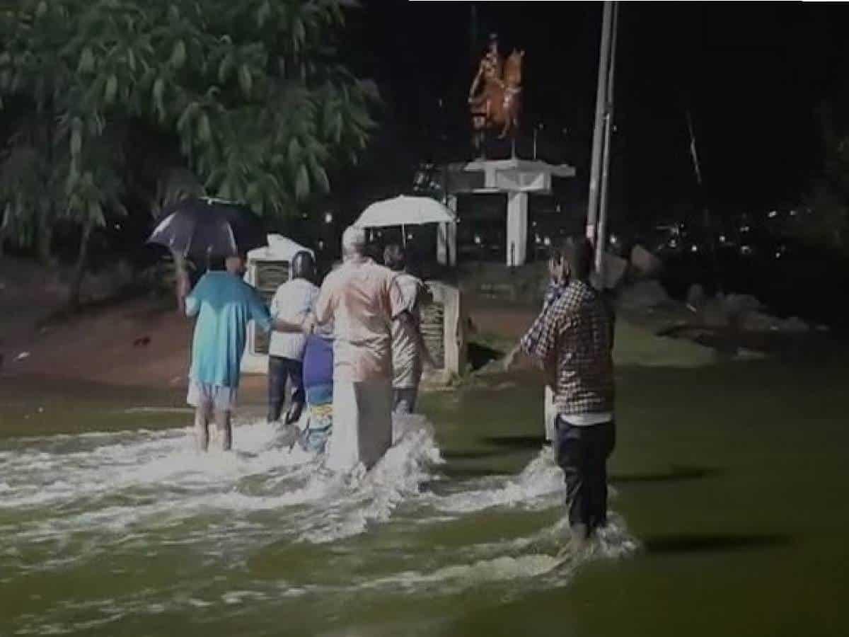 Two washed away as heavy rains lash Hyderabad