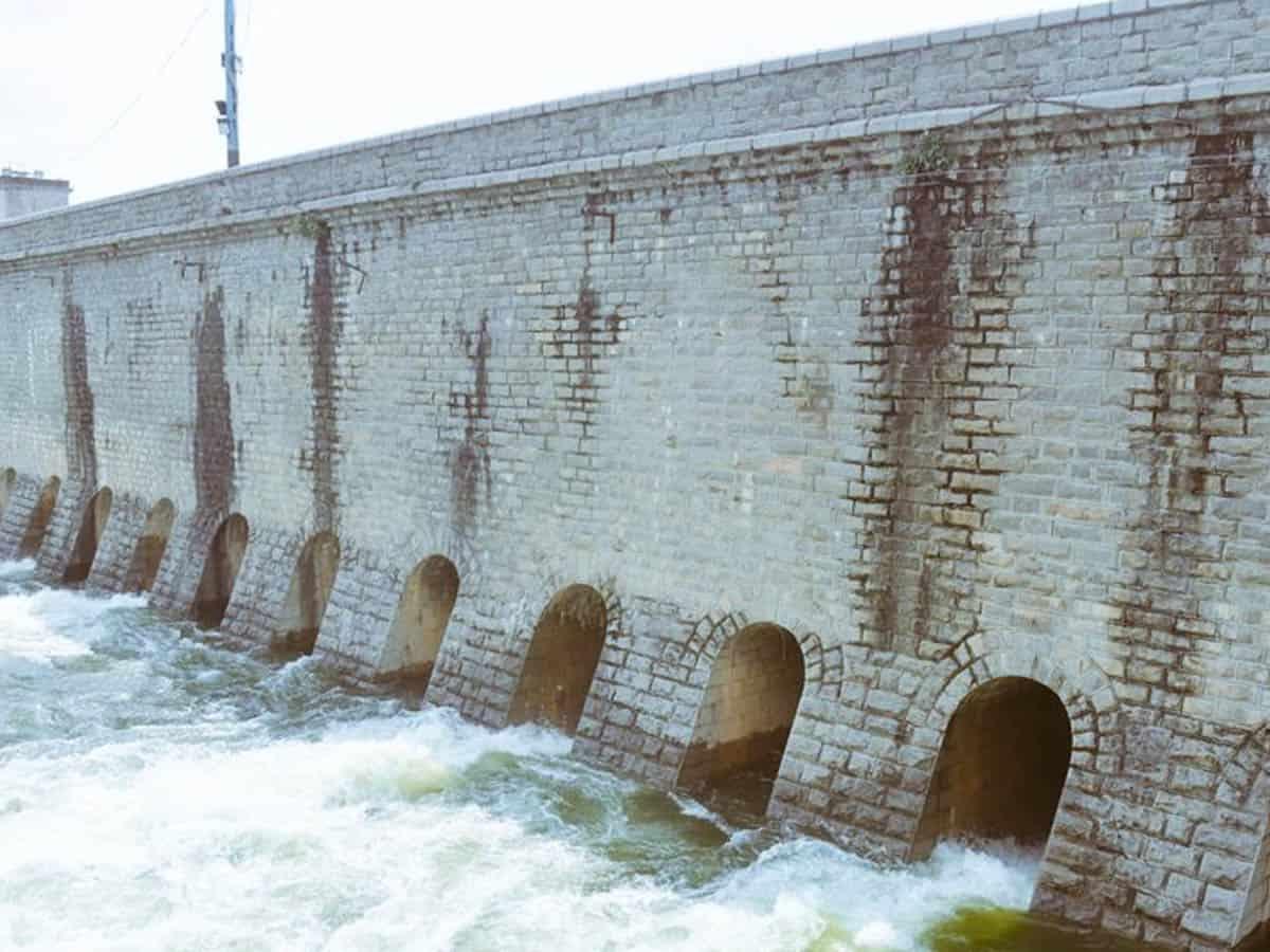 Osman sagar and Himayat sagar reservoirs reach full tank level