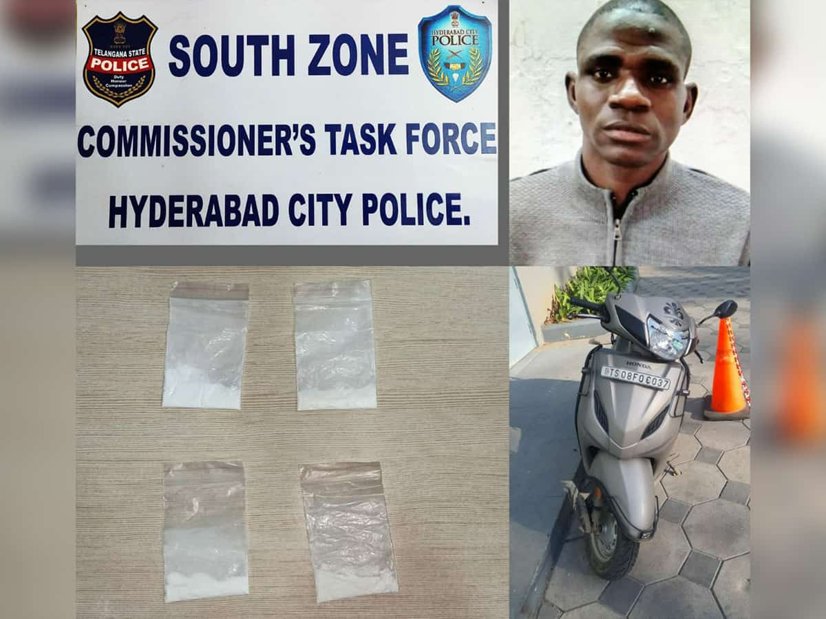Hyderabad: Task force arrests Nigerian drug peddler