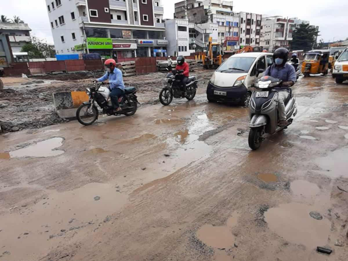 Hyderabad: Commuters have a bumpy ride due to trail of potholes