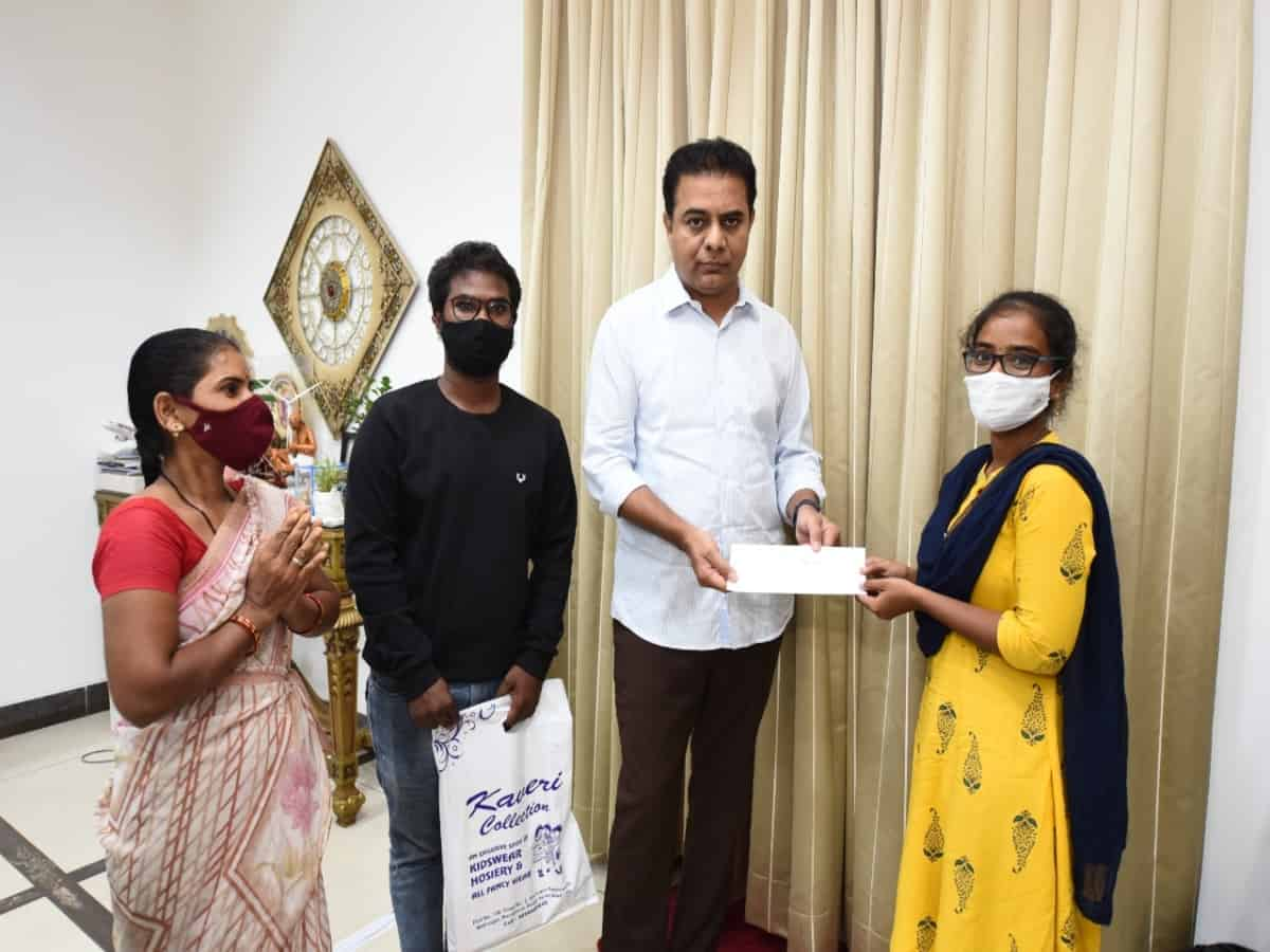 KTR provides financial assistance to tribal MBBS student