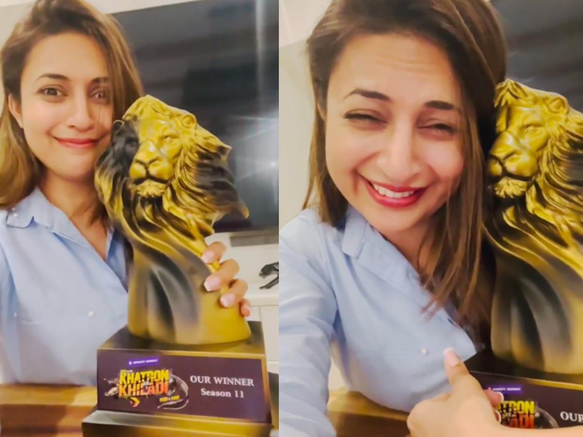 Divyanka Tripathi receives Khatron Ke Khiladi 11 winner's trophy, how?
