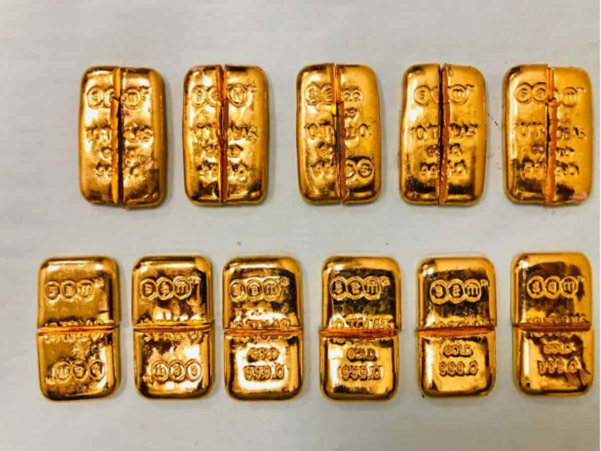 Gold worth Rs 20 lakh seized at Hyderabad Airport officials