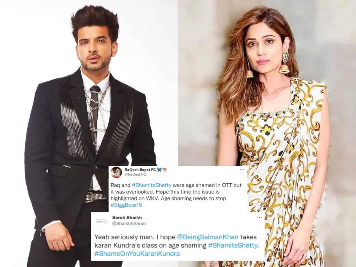Bigg Boss 15: Karan calls Shamita as 'aunty'; Fans demand action against the actor