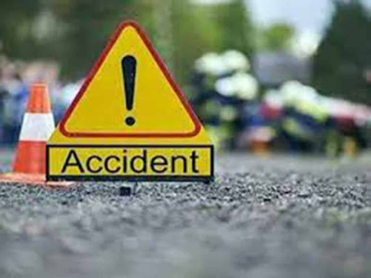 1 killed as TSRTC bus falls off road after collision with car