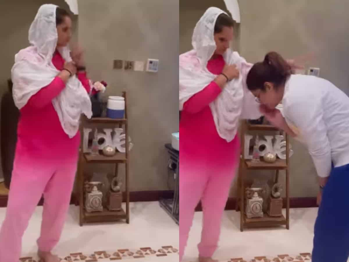 Sania Mirza gives Hyderbadi touch to viral 'Touch It' trend [Video]