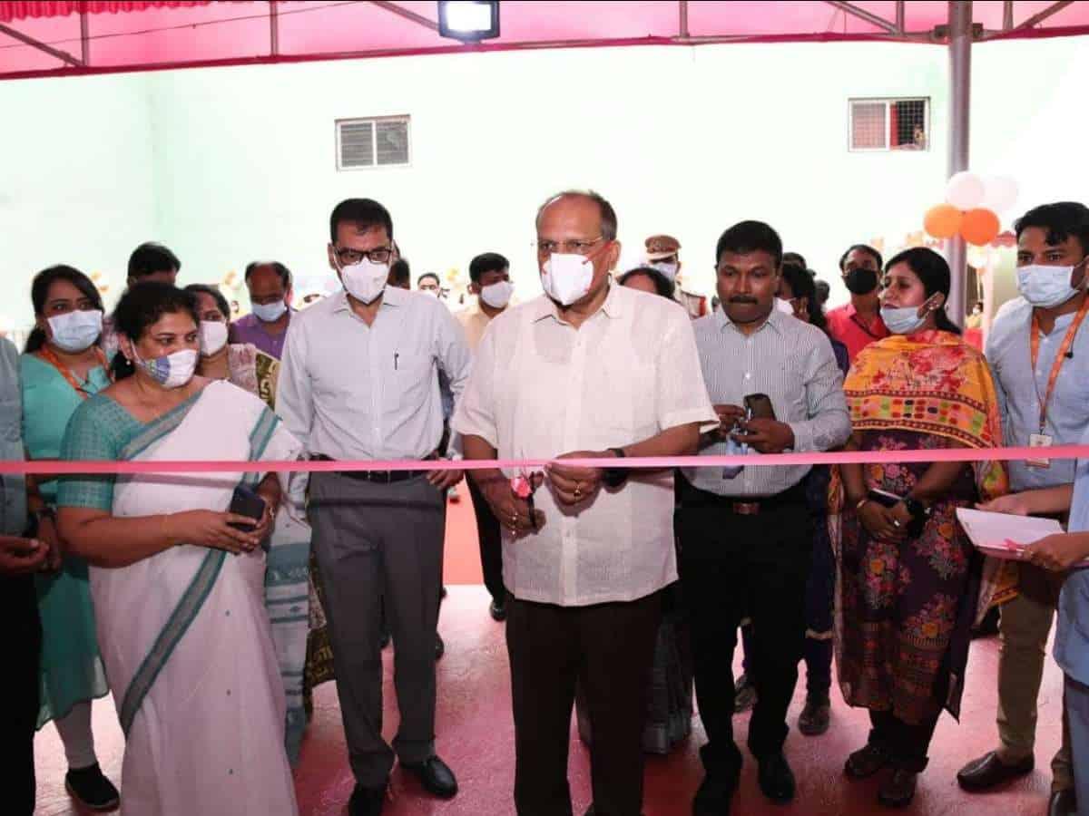 Hyderabad: Somesh Kumar inaugurates COVID-19 Mega Vaccine Center