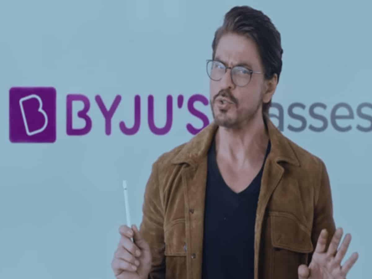 Byjus removes Shah Rukh Khan?