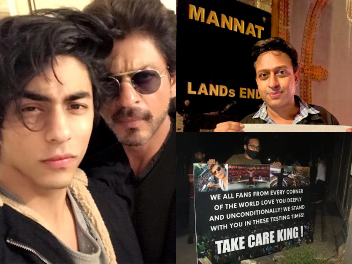 Visuals of fans outside SRK's Mannat [Photos]